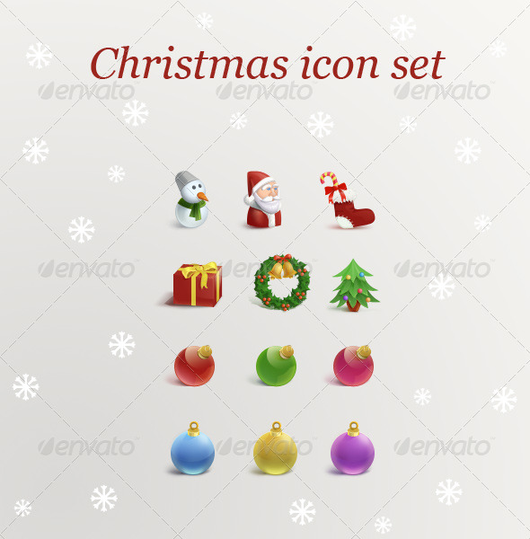 Christmas Icon Set - Seasonal Icons