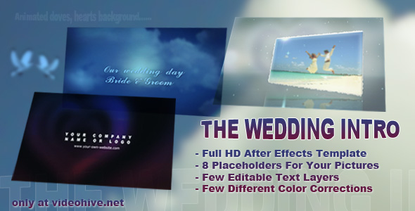 After Effects Project - VideoHive The Wedding Intro 132219