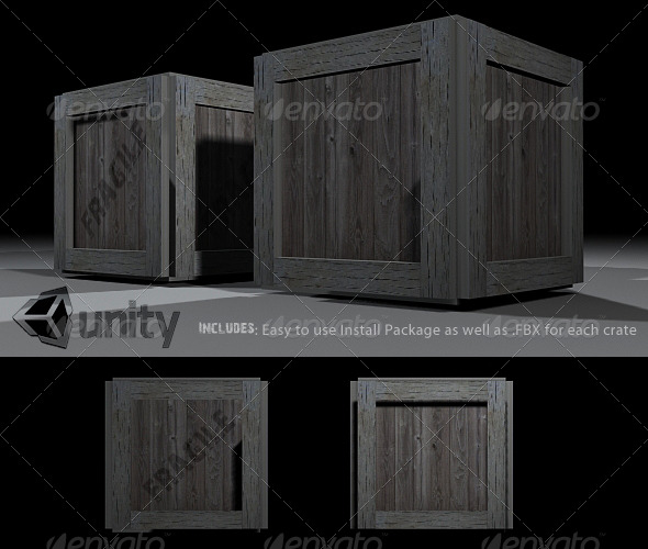 Crates Prefab - 3DOcean Item for Sale