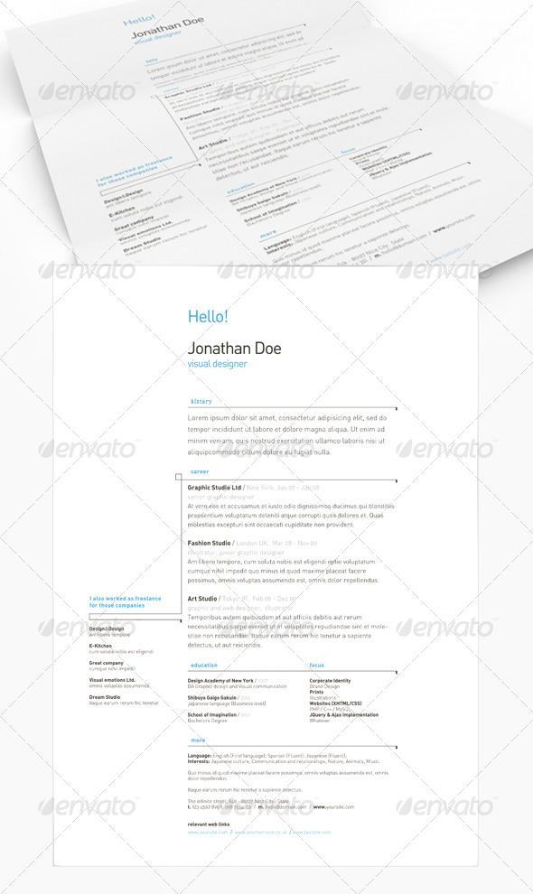 Get Minimal - Resume 03