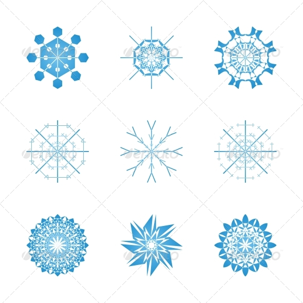 Snowflakes set - Decorative Symbols Decorative
