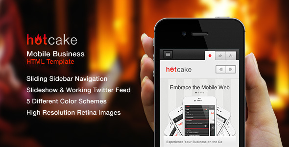 HotCake — Mobile Business HTML Template - Preview