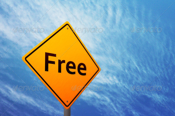 Free on Yellow Sign - Stock Photo - Images