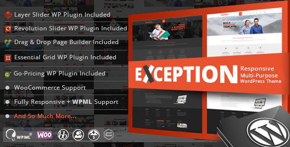 EXCEPTION Responsive Multi-Purpose WordPress Theme – Download