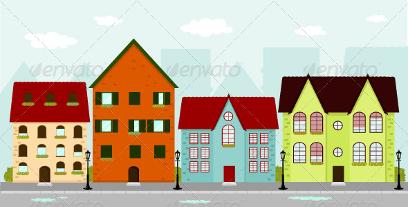 GraphicRiver Townhouses 1066865