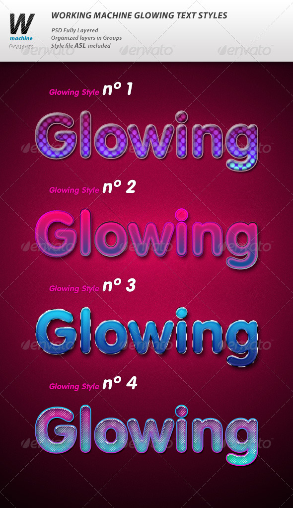 Glowing Text styles - Text Effects Styles