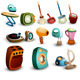 Retro Household Icons - GraphicRiver Item for Sale