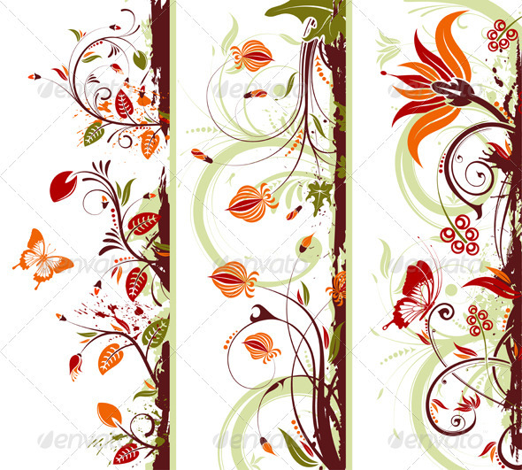 Collect Floral Frame GraphicRiver - Vectors - Decorative Borders ...