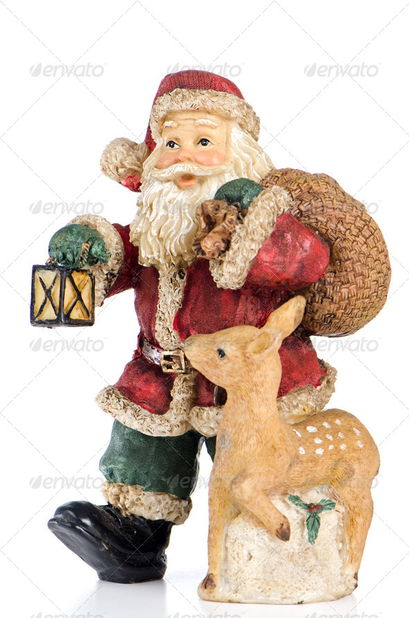 Ceramic Santa Claus - Stock Photo - Images