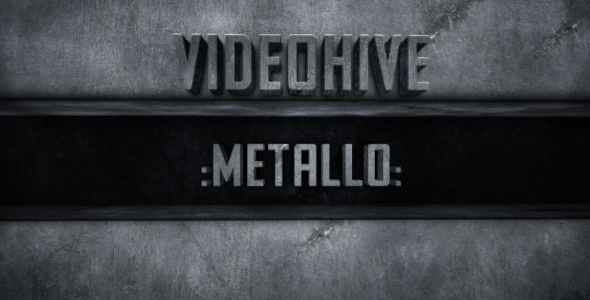 After Effects Project - VideoHive Metallo 132990