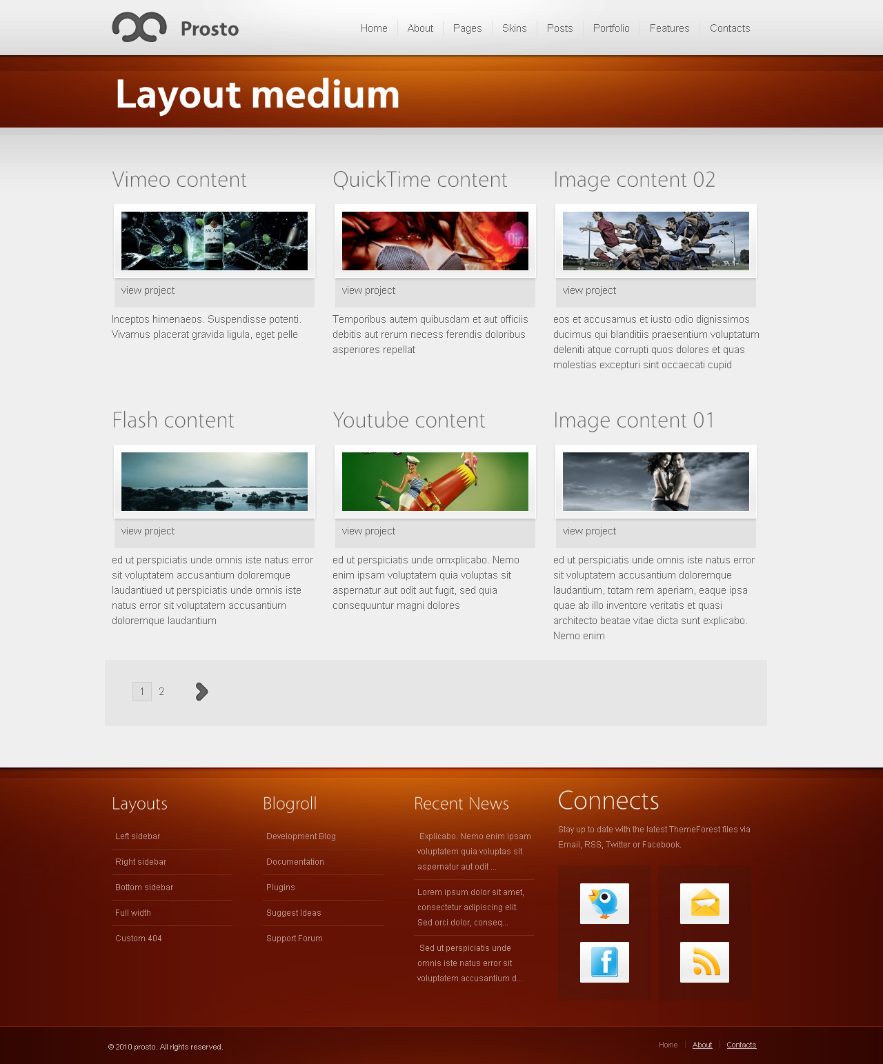 Prosto - Business &amp; Portfolio, CMS WordPress theme