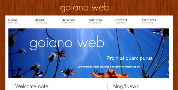 Goiano web - Creative Site Templates