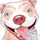 Excited Pit Bull Dog - GraphicRiver Item for Sale