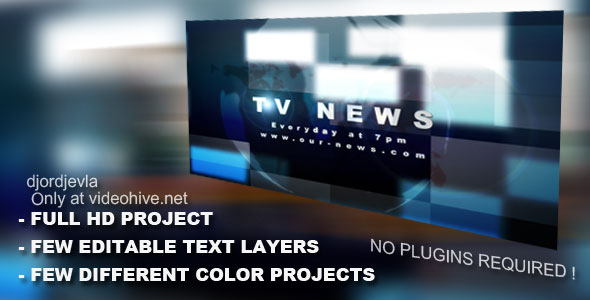 After Effects Project - VideoHive TV News Intro 133108