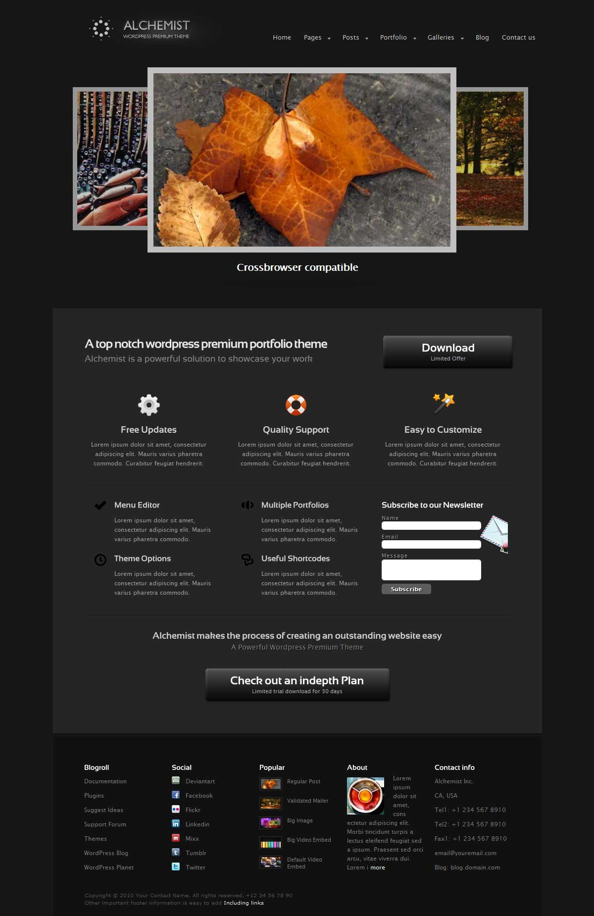 Alchemist Portfolio and Corporate Wordpress Theme