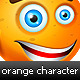 Orange Character + Bonus - GraphicRiver Item for Sale