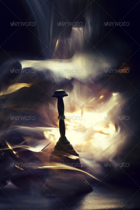 Long Exposure Magic Bell With Smoke And Light Effects - Stock Photo - Images