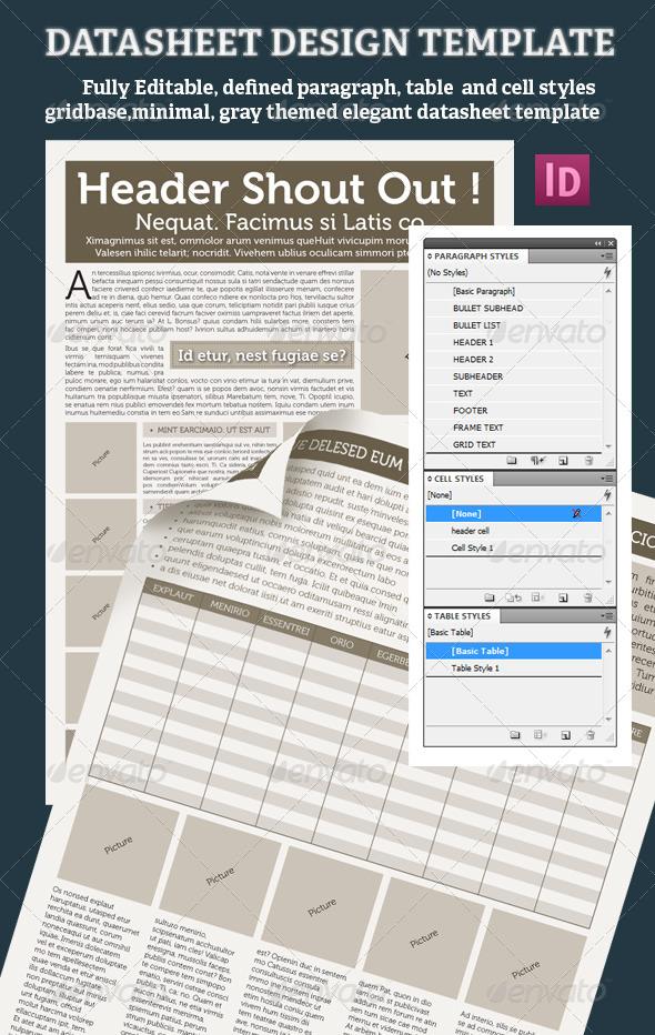 DATASHEET DESIGN TEMPLATE - Miscellaneous Print Templates