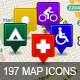 Ultimate GPS / Travel Map Location Icons - GraphicRiver Item for Sale