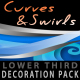 Curves &amp;amp; Swirls lower third - decoration pack - VideoHive Item for Sale