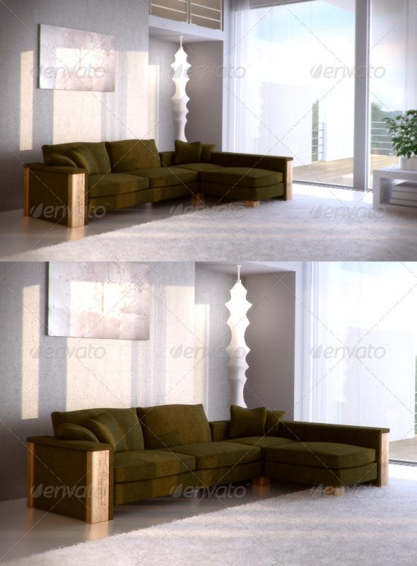 3DOcean FrommHolz Montana corner sofa 87473