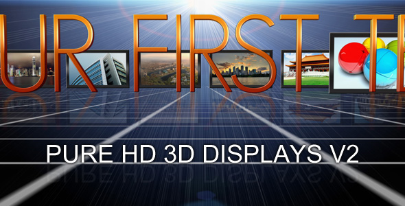 After Effects Project - VideoHive PURE 3D HD DISPLAYS V2 75609