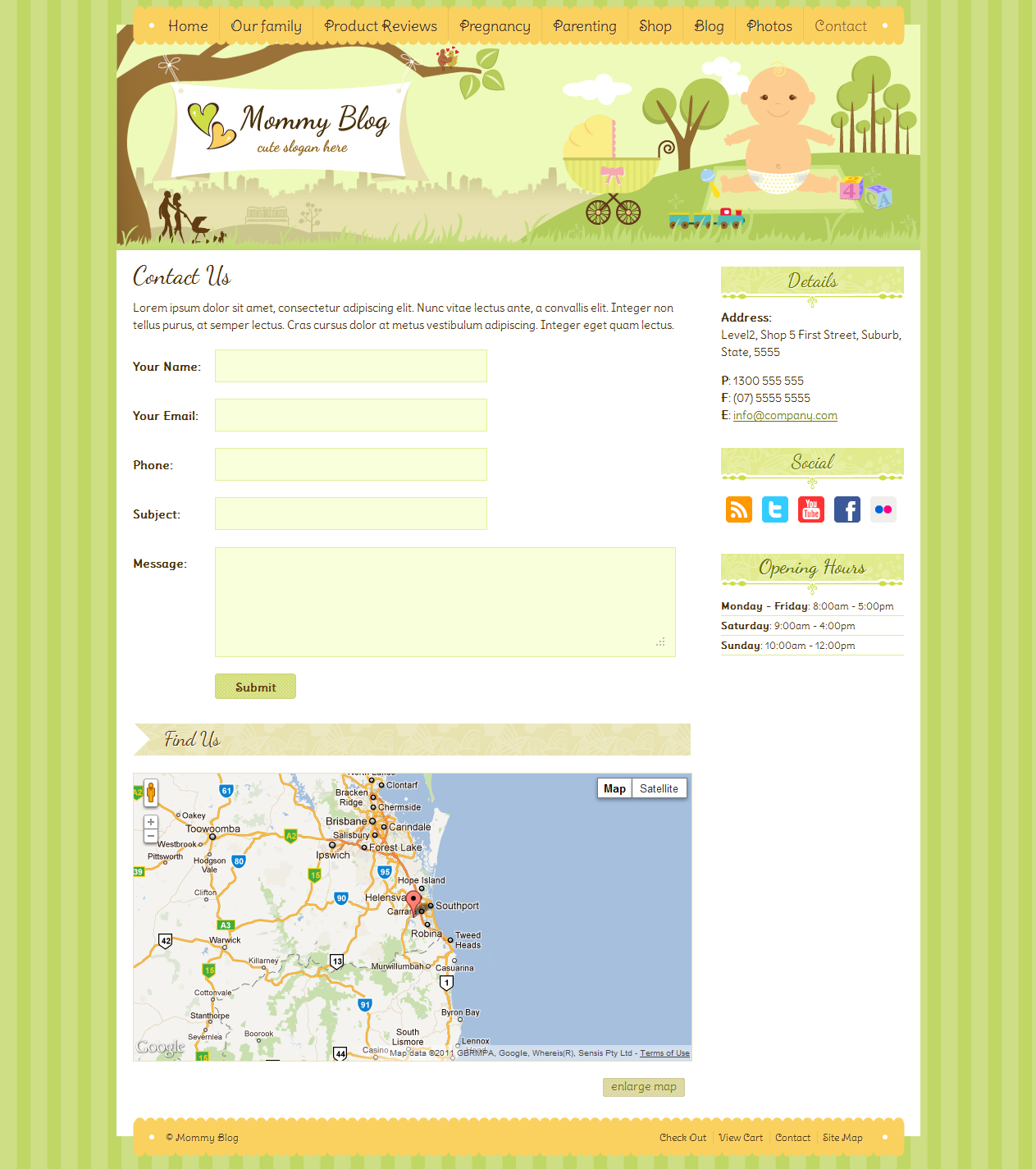 Mommy Blog HTML - Including Shop &amp; Blog Layout 