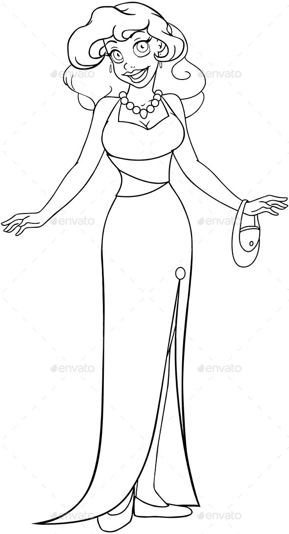 hot ladies coloring pages - photo#14