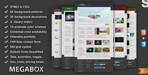 MegaBox - Multipurpose HTML5 Template