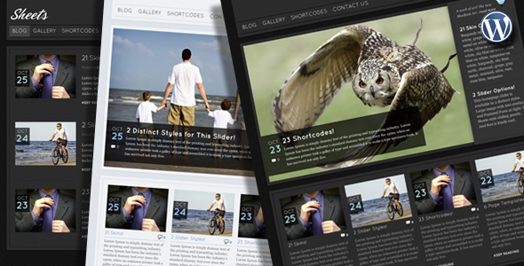 Sheets Wordpress Theme