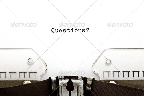 Questions on Typewriter - Stock Photo - Images