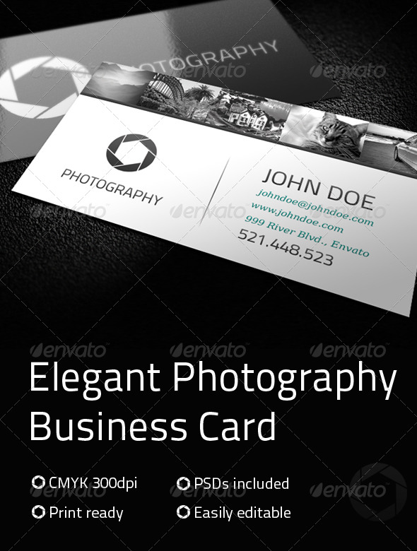 Elegant Photography Business Card - Industry Specific Business Cards