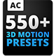 3D Motion Presets For Animation Composer 江湖盛名传550动画AE精品下载
