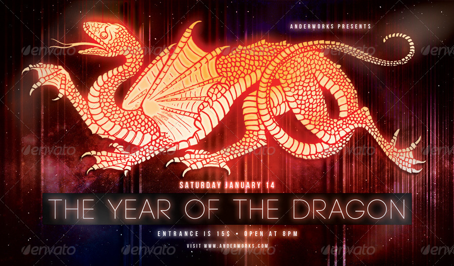 Music & Event Flyer - Year of the Dragon