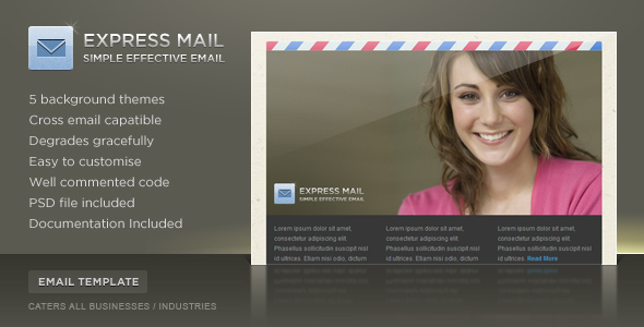 Express Mail Newsletter Template (5 Themes) - Screenshot 01 - Email Express Preview