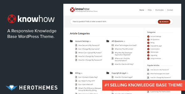 knowhow a knowledge base wordpress theme by herothemes themeforest. Black Bedroom Furniture Sets. Home Design Ideas