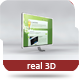 Real 3D Monitor (Chrome/White) - GraphicRiver Item for Sale