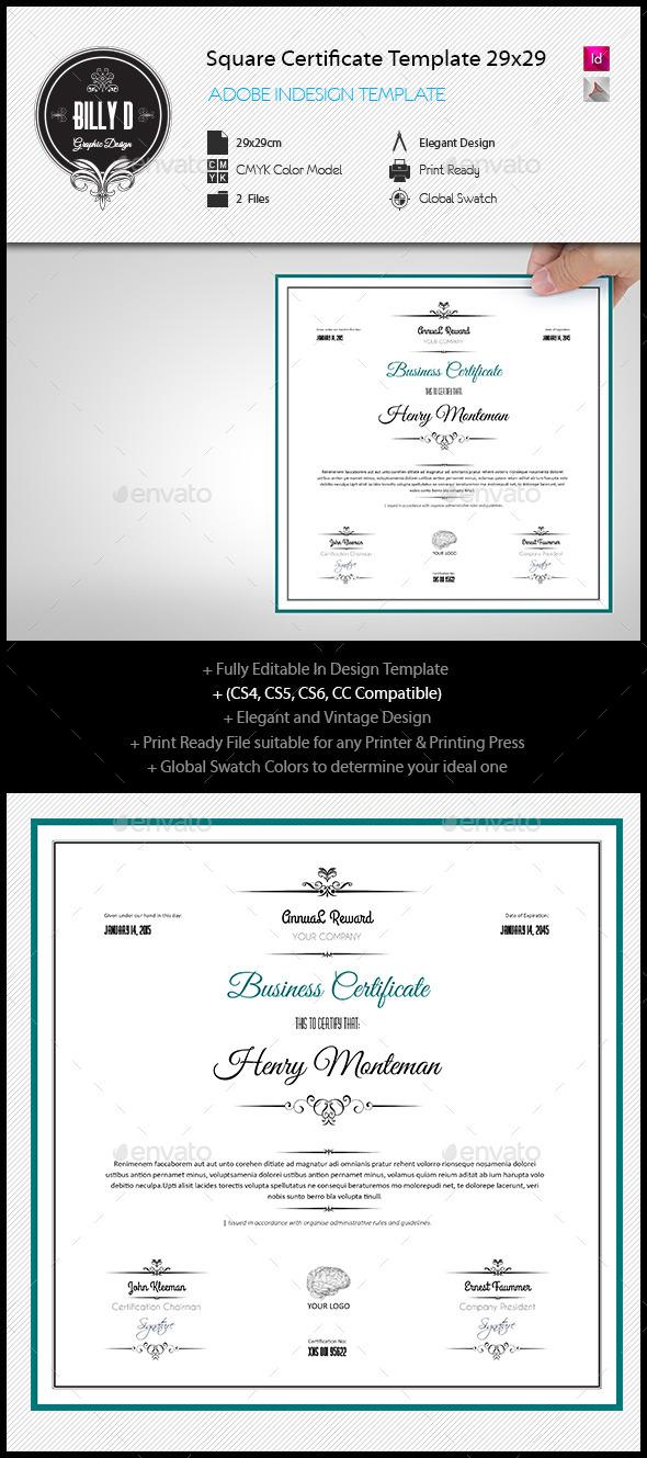 Indesign Certificate Templates