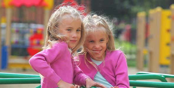 Twin Girls VideoHive Stock Footage  Kids 1090778