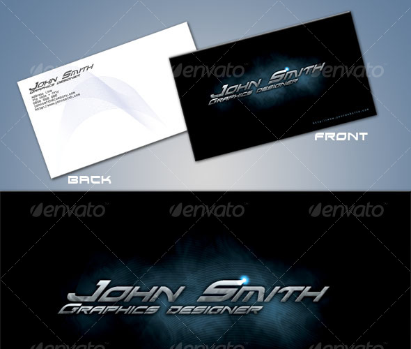 GraphicRiver Hi-Tech professional business card template 44794