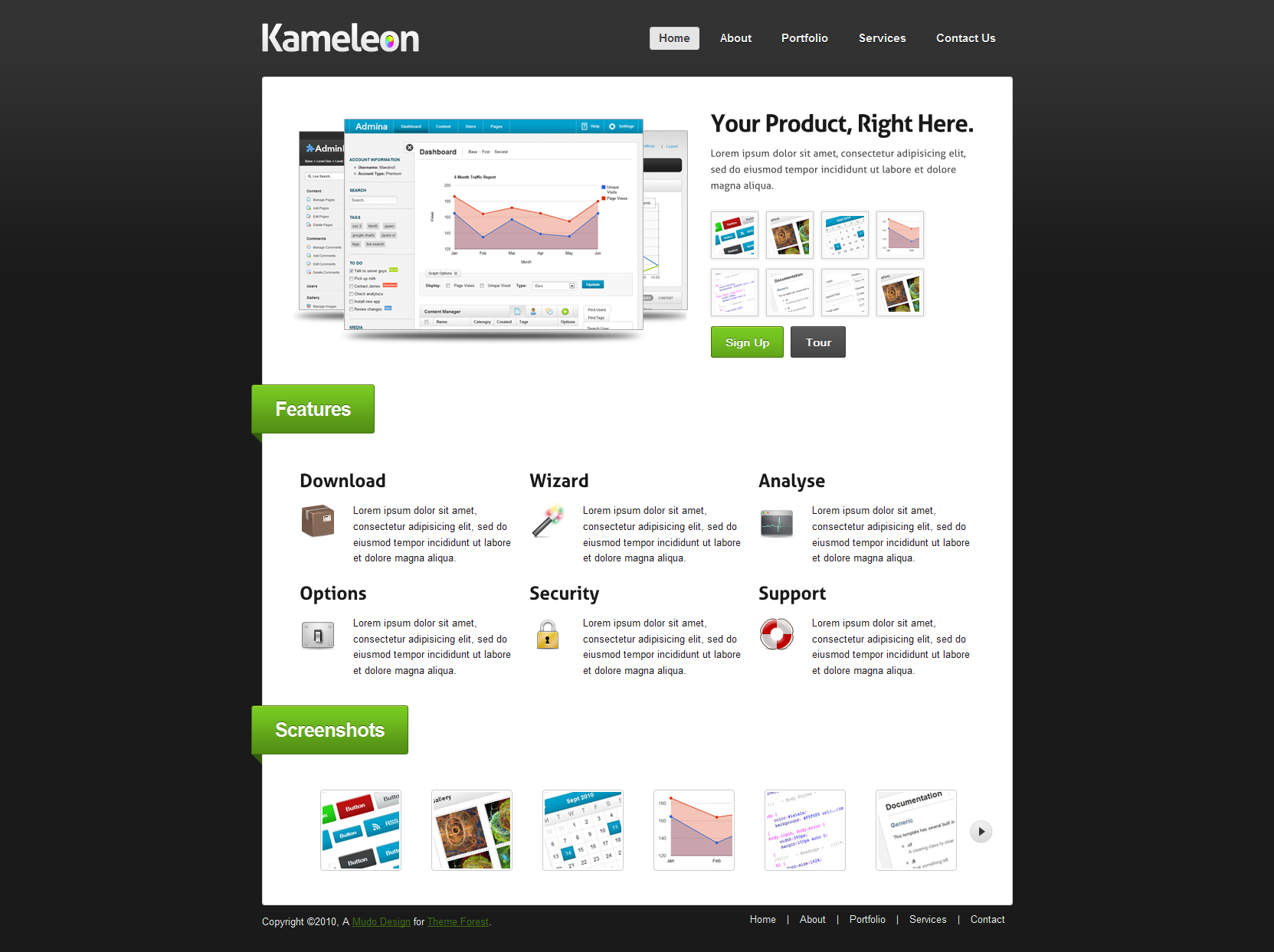Kameleon - Premium Business &amp; Product Template