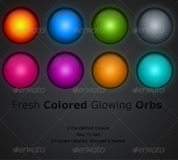 Colorful Glowing Orbs - Miscellaneous Web Elements