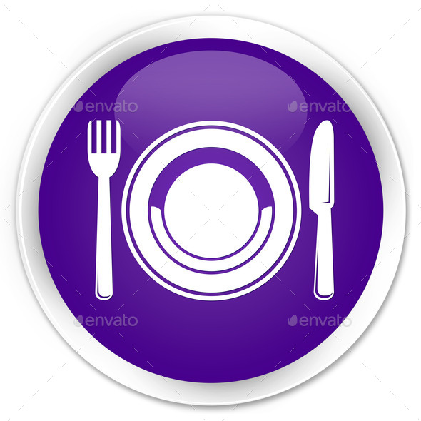 Food plate icon