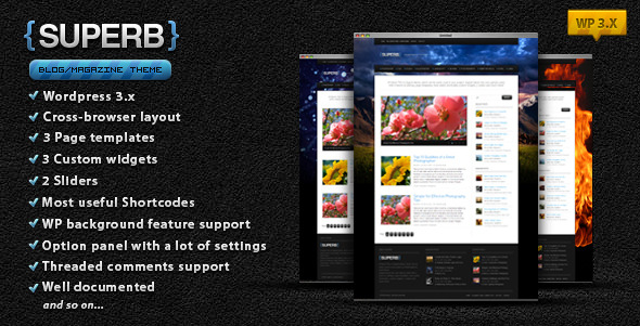 Suberb - blog/magazine wordpress theme