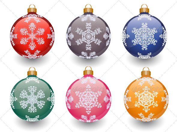 GraphicRiver Christmas baubles 135626
