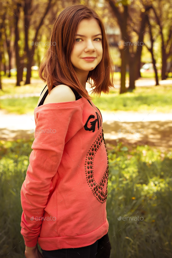 Photography cute teen girl stock photo by nikolaydonetsk Cute teenage girls pics
