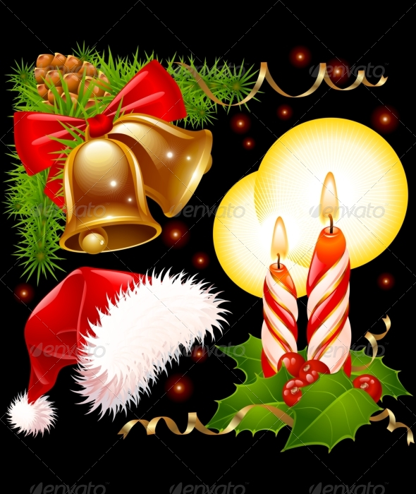 Christmas decoration set 03. - Christmas Seasons/Holidays
