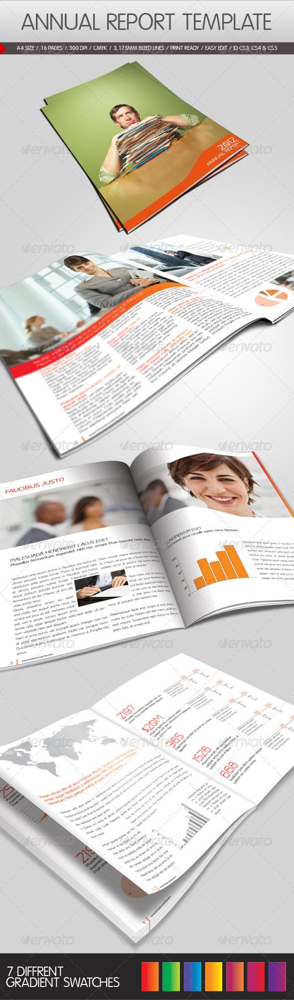 GraphicRiver Annual Report Template 1042982