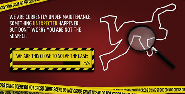 ThemeForest Crime Scene Coming Soon Template 1098514