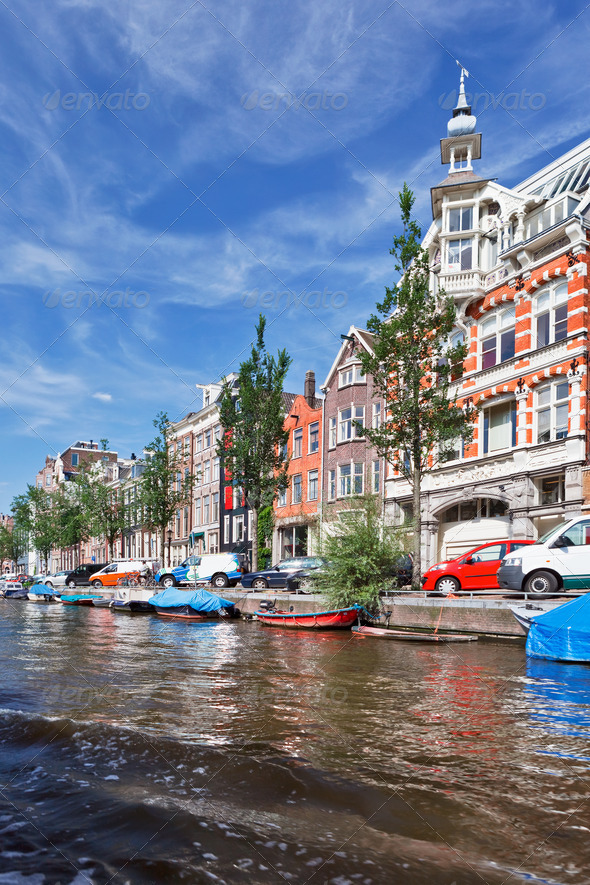 Amsterdam canals - Stock Photo - Images